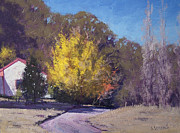 Fall Trees Posters - Autumn in Lithgow Poster by Graham Gercken