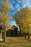 Wooden Building Posters - Autumn in Montanas Nevada City Poster by Bruce Gourley