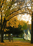 Neighborhood Prints - Autumn in Nebraska City No.2 Print by Christine Belt