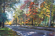 Autumn Landscape Paintings - Autumn in Niagara Falls Park by Ylli Haruni