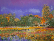 Yellow Leaves Pastels Prints - Autumn in Nisqually Print by David Patterson
