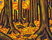 Fall Season Painting Posters - Autumn in Oakville Poster by Kamil Swiatek