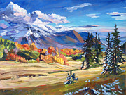 Fall Scenery Prints - Autumn In The Foothills Print by David Lloyd Glover
