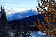 Banff Prints - Autumn in the Mountains Print by Larry Ricker