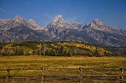 Grand Tetons National Park Prints - Autumn in the Tetons Print by Andrew Soundarajan