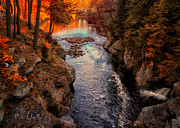 Waterfall Prints - Autumn In West Paris Print by Bob Orsillo