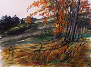 Jmwportfolio Drawings - Autumn Intensity by John  Williams