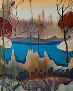 Lake Tapestries - Textiles Prints - Autumn Print by Irina Dorofeeva