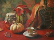 Tea Posters - Autumn Joys Poster by Anna Bain
