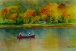 Father Paintings - Autumn by Karen Fleschler