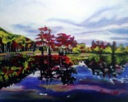 Eleven Paintings - Autumn Lake by Darlene Collins