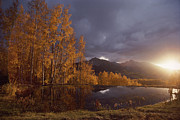 Sunrises And Sunsets Prints - Autumn Landscape Near Telluride Print by Annie Griffiths