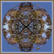Mandala Photos - Autumn Leaf Mandala Number 1 by Skip Runge