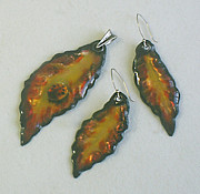 Hand Made Jewelry - Autumn leaves by Asya Ostrovsky