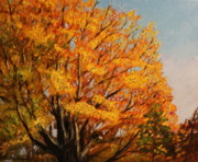 Turning Leaves Painting Framed Prints - Autumn Leaves at High Cliff Framed Print by Daniel W Green