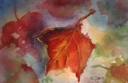Autumn Leaf Paintings - Autumn Leaves by MaryAnn Cleary