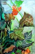 Botanical Drawings - Autumn Leaves by Mindy Newman