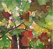 Branch Painting Originals - Autumn leaves n4 by Alessandro Andreuccetti
