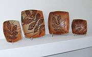 Tree Ceramics Originals - Autumn Leaves Serving Set by Wolfsong Ceramics Jillian Wolf