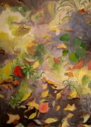 Red Point Paintings - Autumn Leaves by Zan Doan