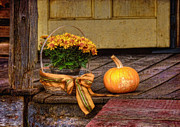 Basket Digital Art Prints - Autumn Print by Lois Bryan