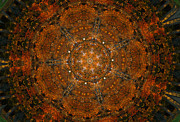 Unity Digital Art Posters - Autumn Mandala 9 Poster by Rhonda Barrett