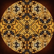 Mother Gift Metal Prints - Autumn Mandala Metal Print by Zeana Romanovna