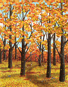 Limited Edition Paintings - Autumn Meadow by Katherine Young-Beck
