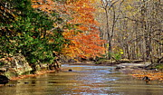 Autumn Landscape Metal Prints - Autumn Meets Winter Metal Print by Robert Harmon