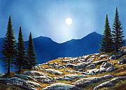 Moonlight Paintings - Autumn Moon by Frank Wilson