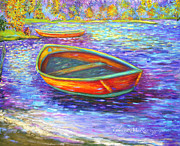 New Britain Painting Posters - Autumn Morn on Mossy Lake Poster by Glenna McRae