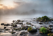 River Mist Photos - Autumn morning by Davorin Mance