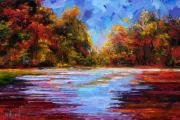 Autumn Morning Print by Debra Hurd