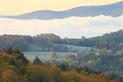 Autumn Foliage Photos - Autumn Morning in Peacham Vermont by John Burk