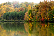 Ditch Framed Prints - Autumn Morning on the Lake Framed Print by Thomas R Fletcher