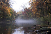 Fairmount Park Prints - Autumn Morning on the Wissahickon Print by Bill Cannon