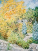 Autumn Foliage Pastels Prints - Autumn Mount Vernon Print by Rose Wark