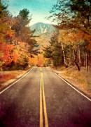 Mountain Road Prints - Autumn Mountain Road Print by Jill Battaglia