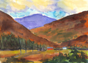 Mary Byrom Prints - Autumn Mountains Print by Mary Byrom