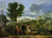Vine Grapes Painting Posters - Autumn Poster by Nicolas Poussin