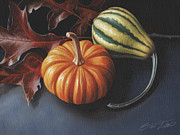 Gourds Paintings - Autumn no. 1 by Steven Tetlow