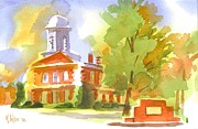 Green Seasonal Originals - Autumn Observations Watercolor by Kip DeVore