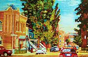 Quebec Paintings - Autumn On Bagg Street by Carole Spandau