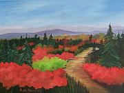 Blueberry Paintings - Autumn On Dolly Sods by Ruth  Housley