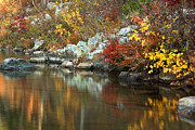 Reflections In River Prints - Autumn On the Black River at Johnsons Shut Ins State Park II Print by Greg Matchick