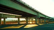 Overpass Framed Prints - Autumn on the Flats Framed Print by Ron Bissett