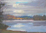 Colors Of Autumn Originals - Autumn on the Lake by Len Stomski