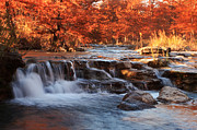 Seasonal Photography Prints - Autumn on the River 2 Print by Paul Huchton