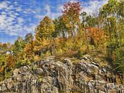 Autumn On The Rocks Print by Jo-Anne Gazo-McKim