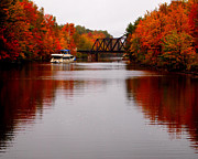Ontario Digital Art Originals - Autumn on the Trent-Severn Waterway by Catherine Booth-Smith